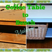Coffee Table to Bench Makeover